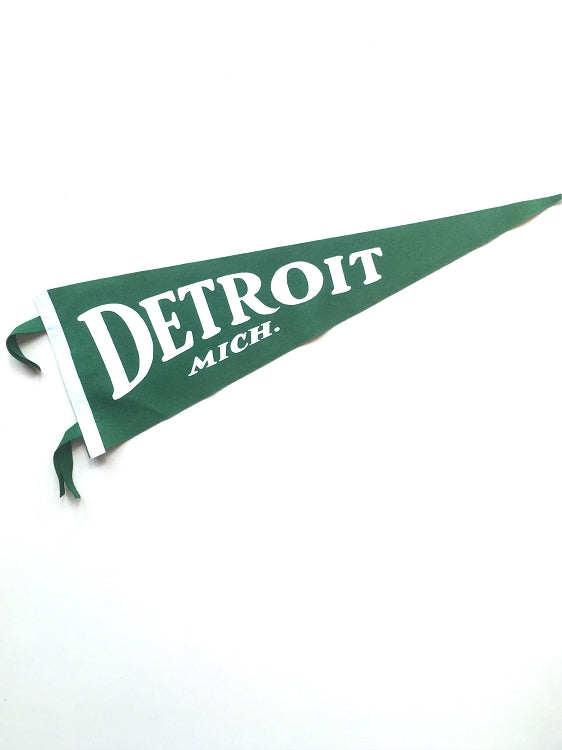 Pure Detroit x Oxford Classic Detroit, Mich. Pennant - Green - Pure Detroit