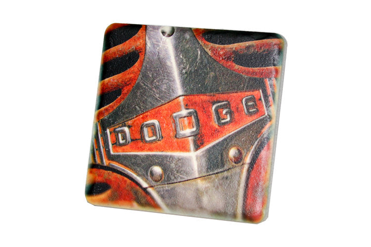 Dodge Hood Porcelain Tile Coaster - Pure Detroit