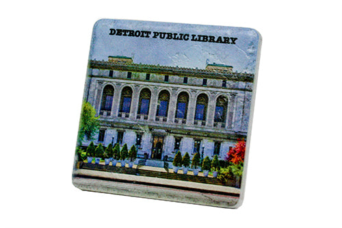 The Detroit Public Library Porcelain Tile Coaster - Pure Detroit