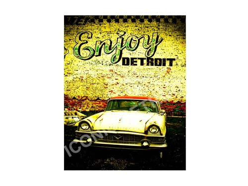 Enjoy Detroit Luster or Canvas Print $35 - $430 - Pure Detroit