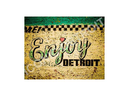 Enjoy Detroit Mural Horizontal Luster or Canvas Print $35 - $430 - Pure Detroit