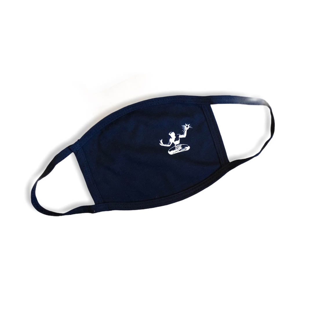 Spirit of Detroit Cotton Face Mask / White + Navy - Pure Detroit