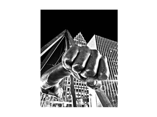 Joe Louis Fist Black and White Luster or Canvas Print $35 - $430 - Pure Detroit