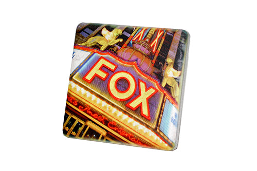 Fox Theatre Lights Porcelain Tile Coaster - Pure Detroit