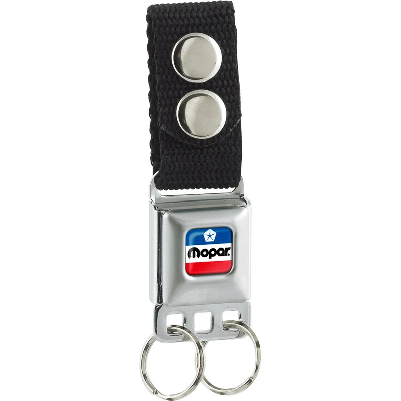 Mopar Chrysler Red White and Blue Color Logo Detachable Keychain - Pure Detroit
