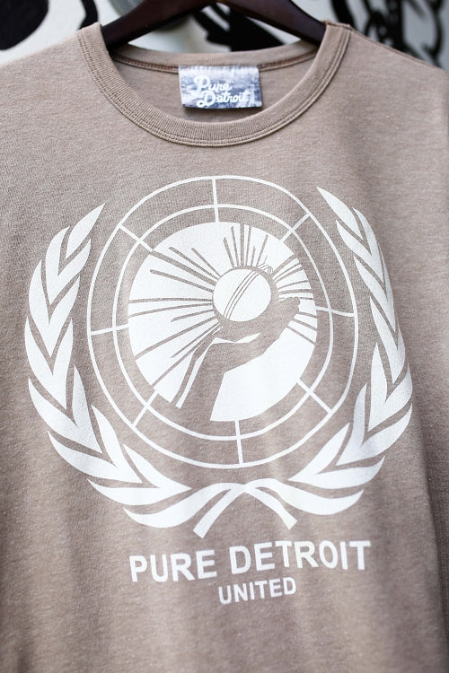 Pure Detroit United Tee / White + Stone / Unisex - Pure Detroit