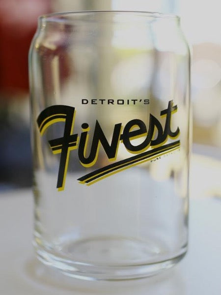 Detroit's Finest 16oz Beer Can Glass - Pure Detroit