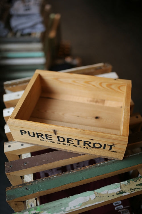 Pure Detroit Salvaged Wood Crate - Pure Detroit