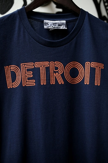 Detroit Neon Tee / Orange + Navy / Unisex - Pure Detroit