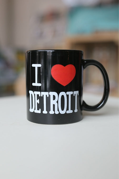 I Heart Detroit Coffee Mug / Black - Pure Detroit