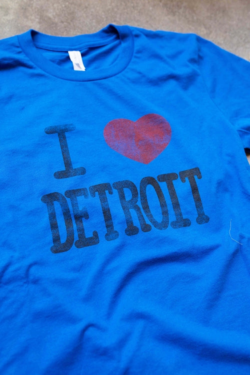 I Heart Detroit Tee / Blue / Unisex - Pure Detroit