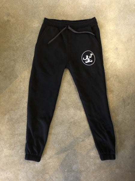 Spirit of Detroit Sponge Fleece Pocket Sweatpants / White + Black / Unisex - Pure Detroit