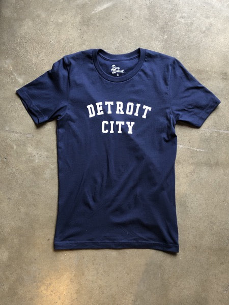 Detroit City Classic Tee / White + Navy / Unisex - Pure Detroit