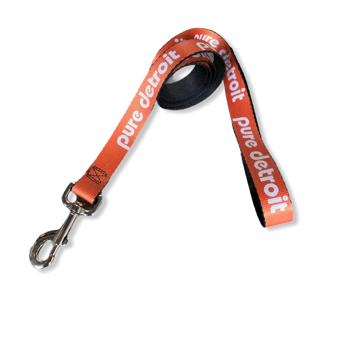 Pure Detroit Dog Leash / White + Orange - Pure Detroit