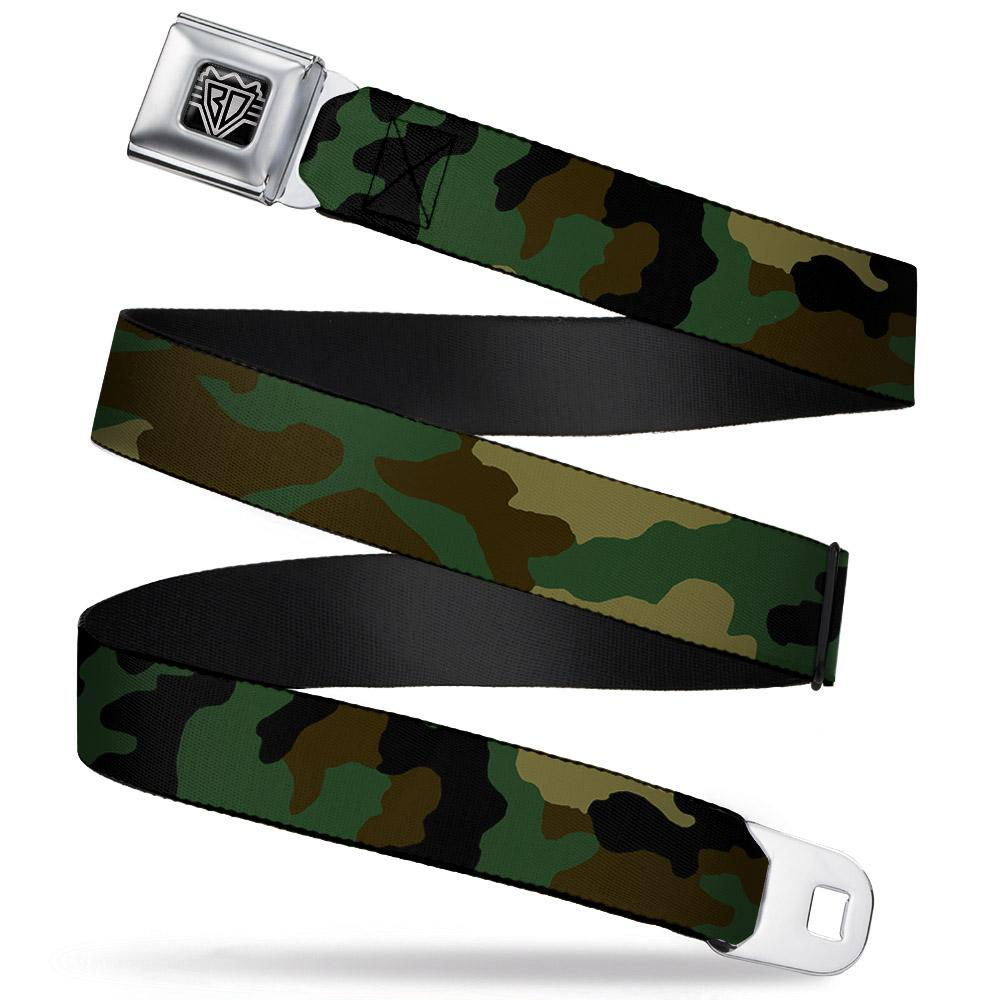 Ford Starburst Seatbelt Belt / Starburst Buckle + Green Camo Webbing