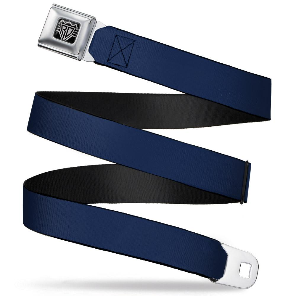 Ford Starburst Seatbelt Belt / Starburst buckle + Navy webbing