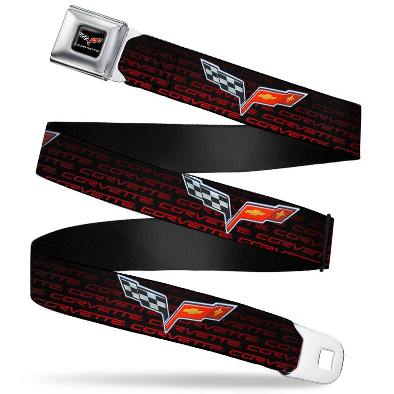 Corvette C6 Seatbelt Belt / Color Logo + Corvette C6 Webbing - Pure Detroit