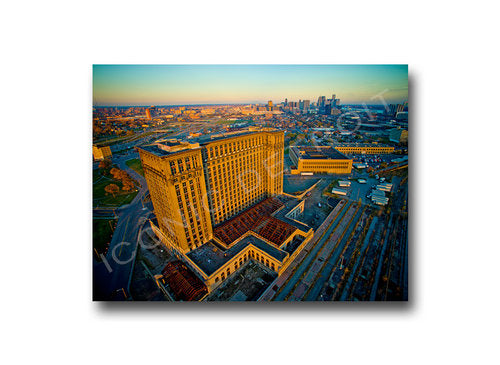 Michigan Central Station Aerial Closeup Luster or Canvas Print $35 - $430 - Pure Detroit