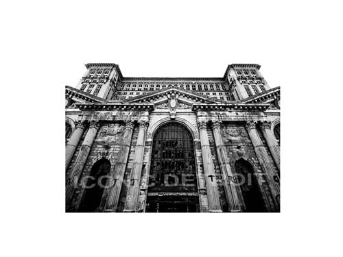 Michigan Central Train Station Entrance Black and White Luster or Canvas Print $35 - $430 - Pure Detroit