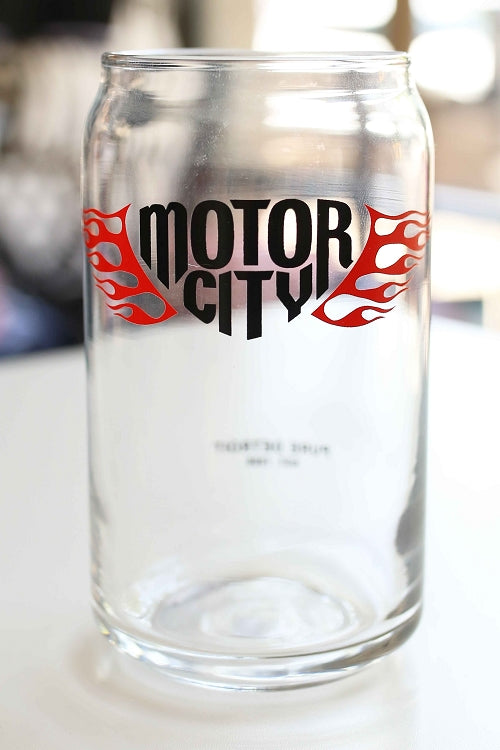 Motor City 16oz Beer Can Glass