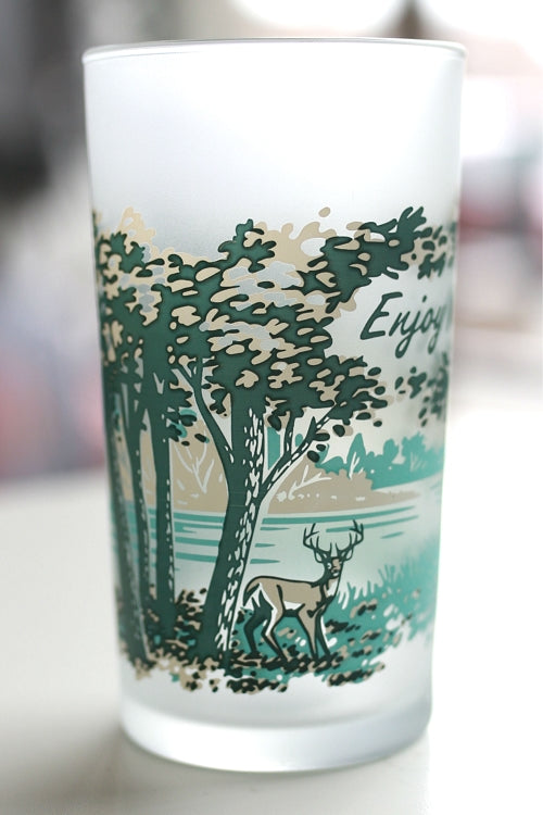 Enjoy Michigan Deer Glass - Pure Detroit