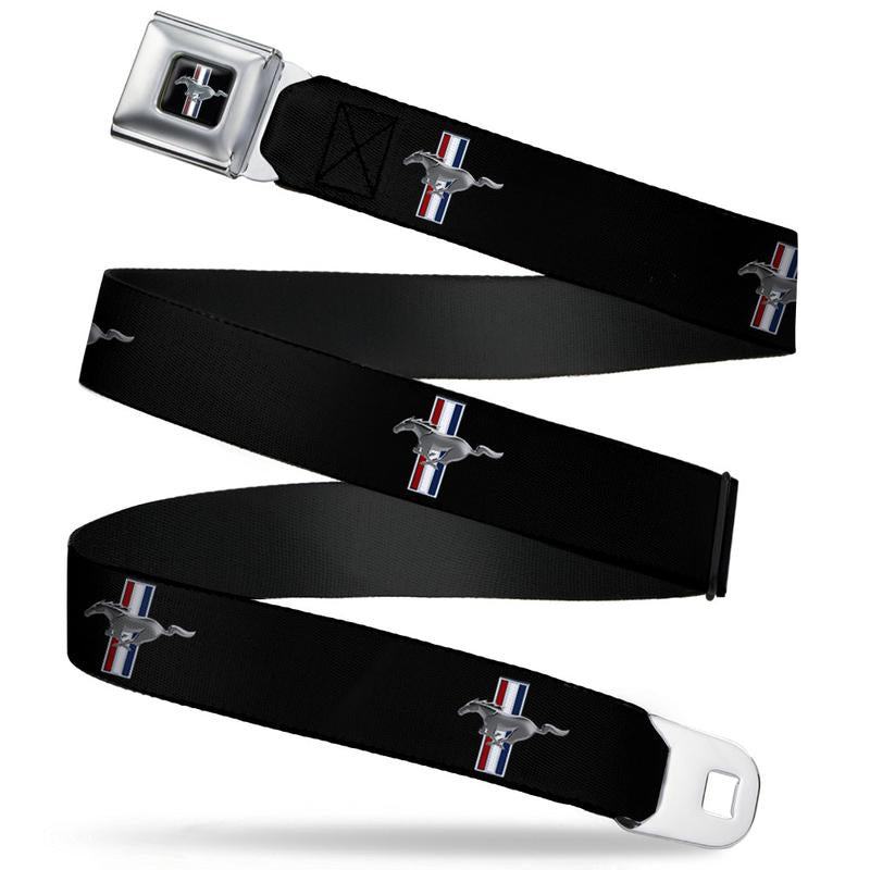 Ford Mustang Seatbelt Belt / Color Logo + Black Logo Webbing