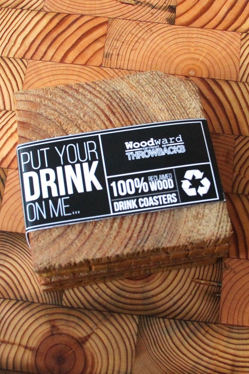 Reclaimed Wood Coaster 4 pack - Pure Detroit