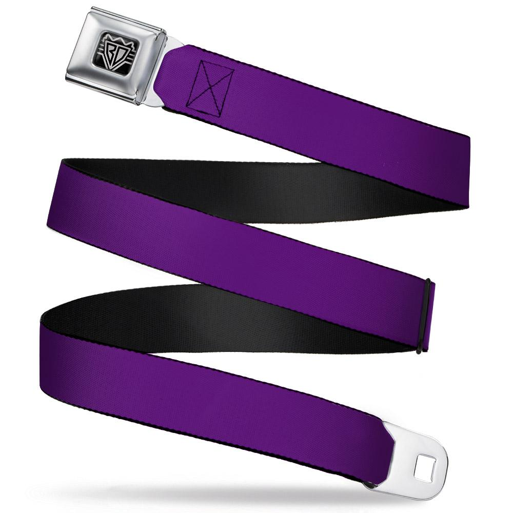 Ford Starburst Seatbelt Belt / Starburst Buckle + Dark Purple Webbing