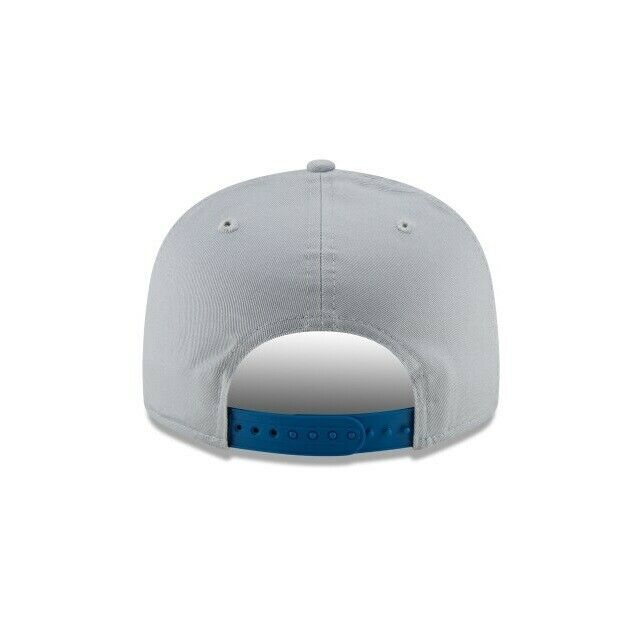 New Era Detroit Lions 9FIFTY NFL Adjustable Snapback Hat / Blue + Gray - Pure Detroit