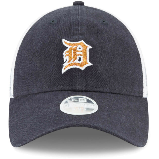 New Era Women's Detroit Tigers 9Twenty Adjustable Hat / Orange Shine + Navy - Pure Detroit