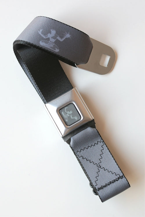 Spirit of Detroit Seatbelt Belt / Color Logo + Silver, Gray, and Charcoal Webbing