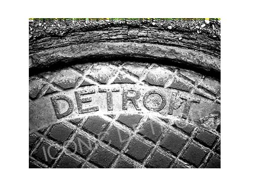 Detroit Manhole Steam Black & White Luster or Canvas Print $35 - $430 - Pure Detroit
