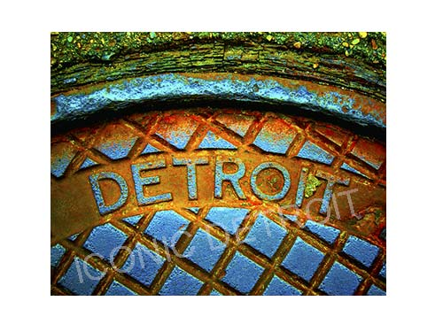Detroit Manhole Steam Horizontal Luster or Canvas Print $35 - $430 - Pure Detroit
