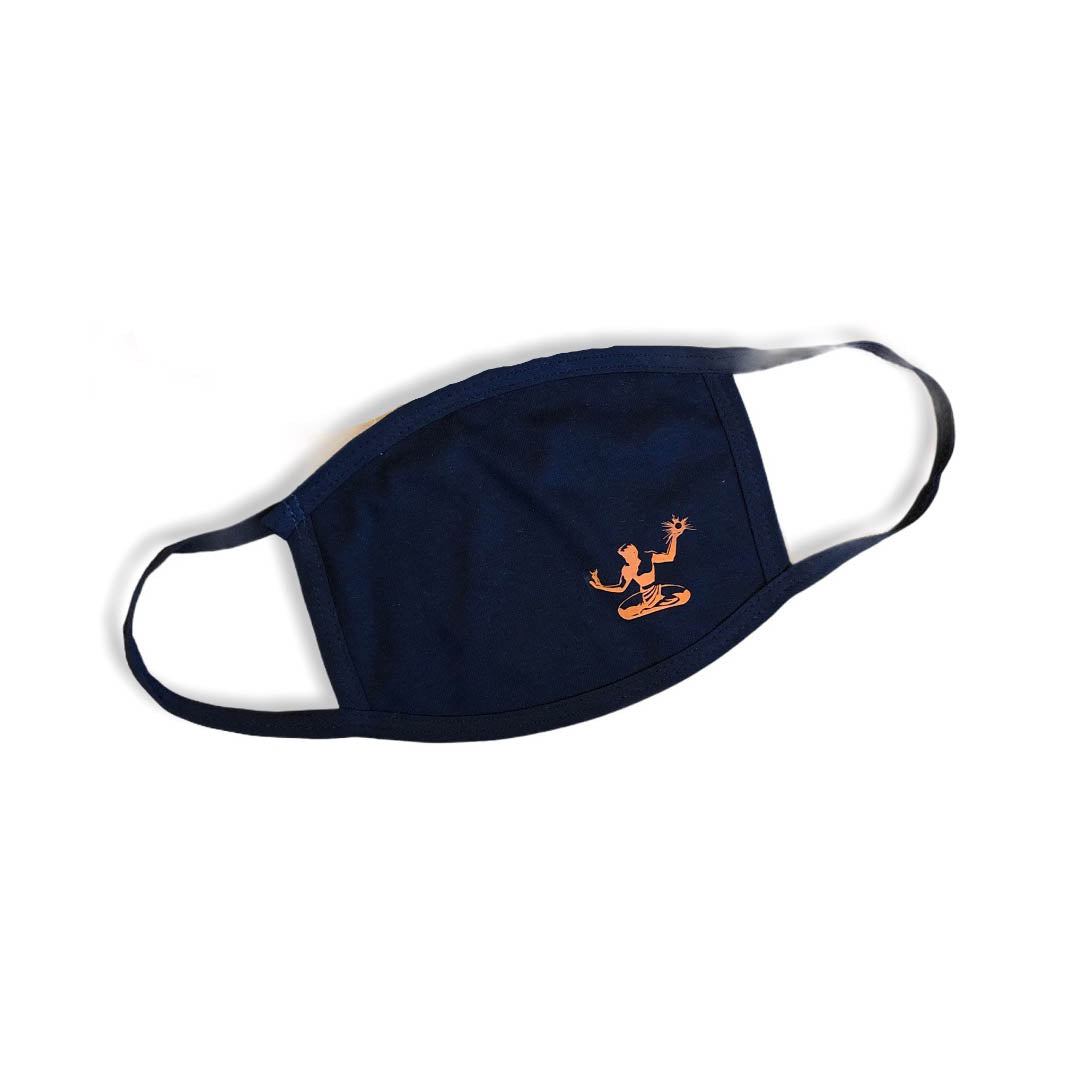 Spirit of Detroit Cotton Face Mask / Orange + Navy - Pure Detroit