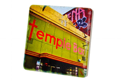 Temple Bar Porcelain Tile Coaster