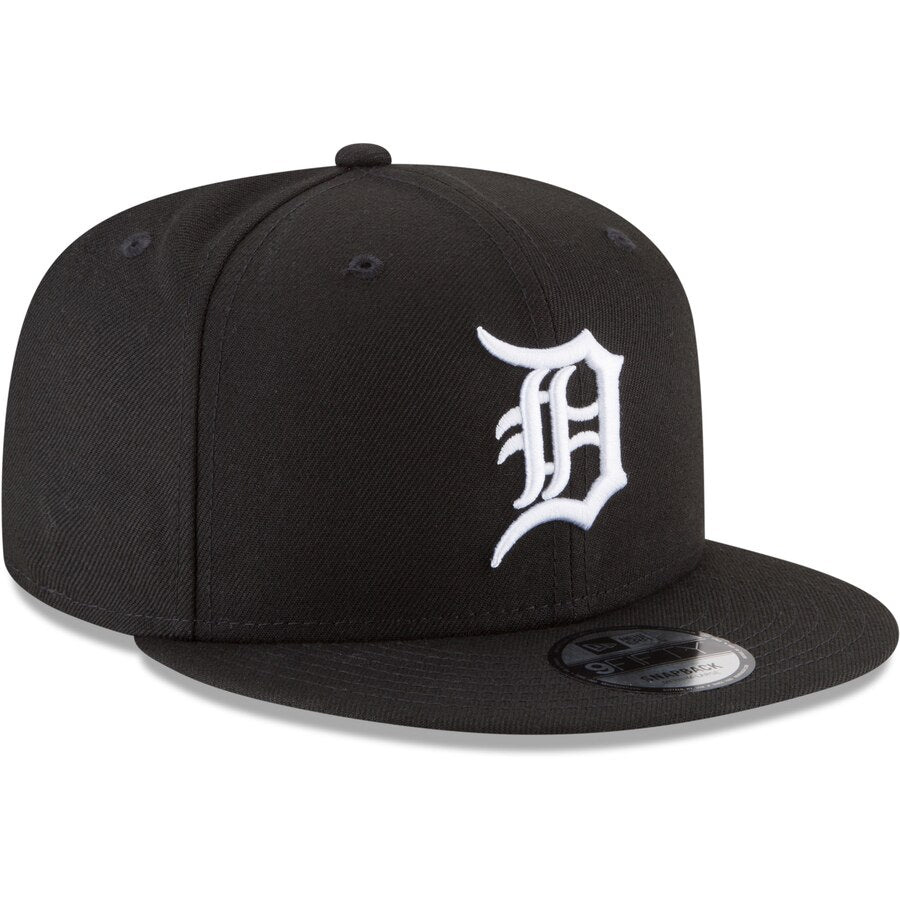 New Era Detroit Tigers 9FIFTY MLB Adjustable Snapback Hat / White + Black