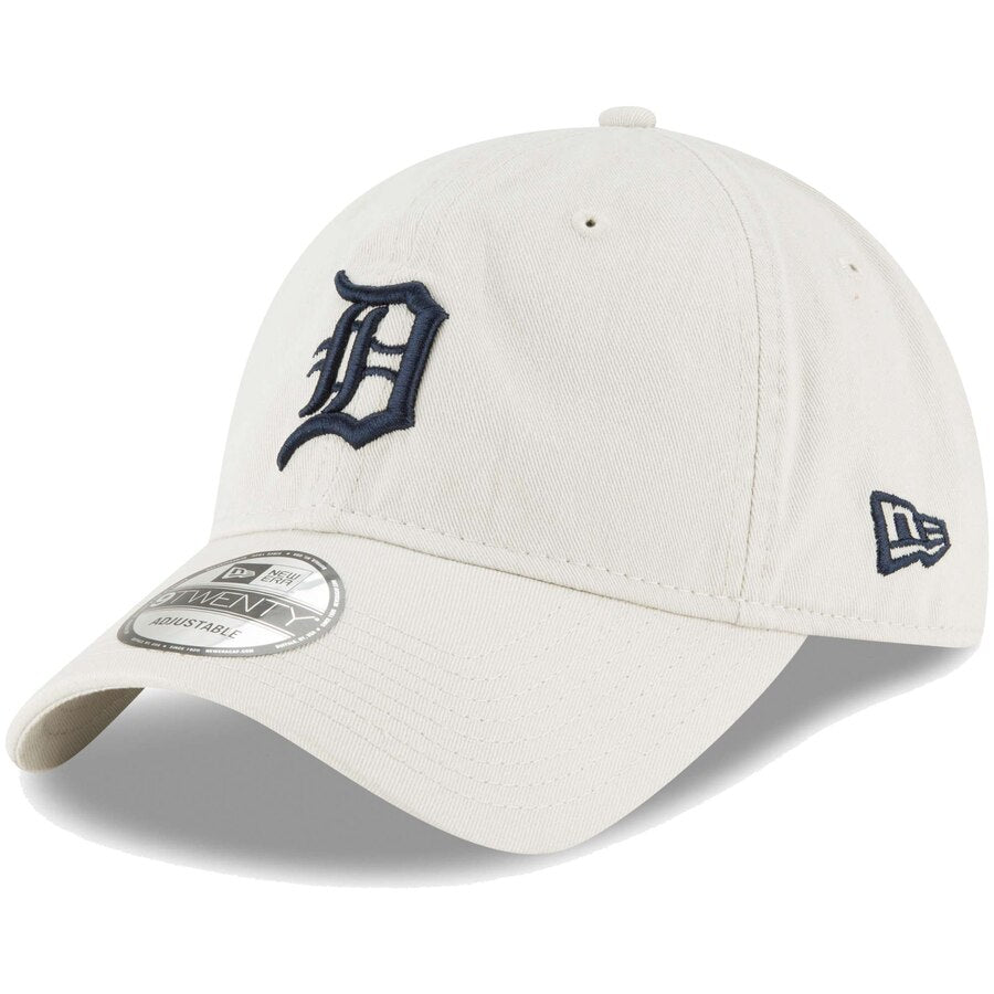 New Era Detroit Tigers Primary Logo Core Classic 9TWENTY Adjustable Hat / Navy + White - Pure Detroit
