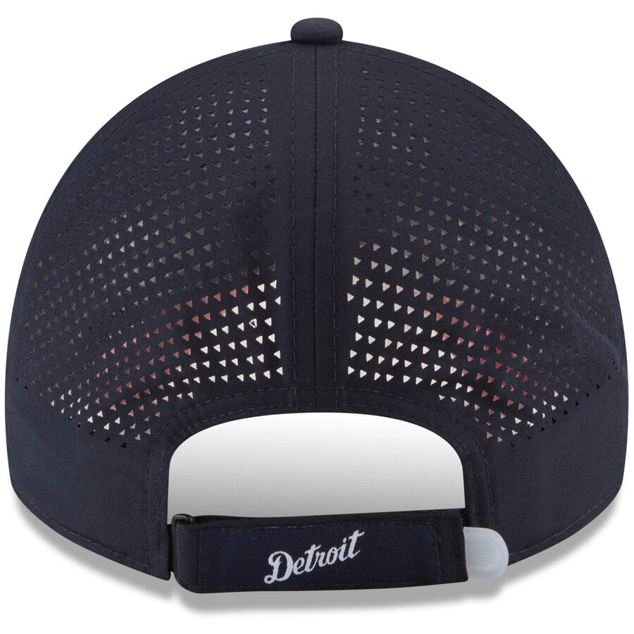 New Era Detroit Tiger's Perforated Pivot 9TWENTY Adjustable Hat / White + Navy - Pure Detroit