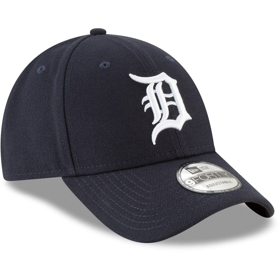 New Era Detroit Tigers Home The League 9FORTY Adjustable Hat / White + Navy - Pure Detroit