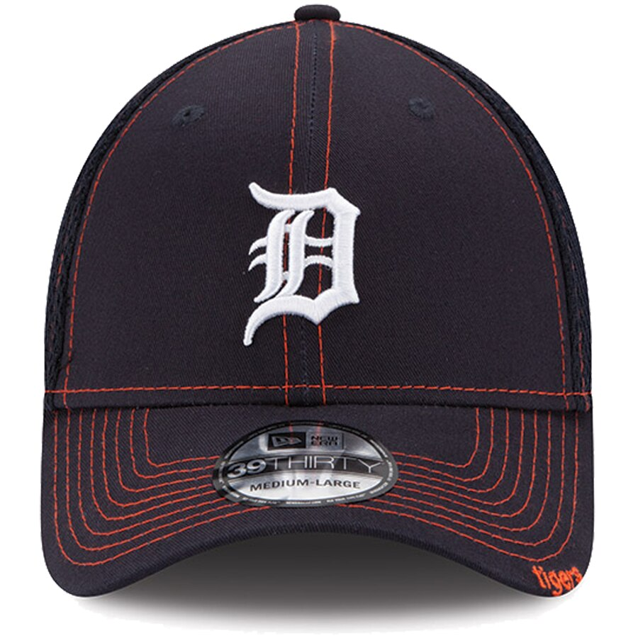New Era Detroit Tigers Neo 39THIRTY Stretch Fit Hat / Orange + Navy