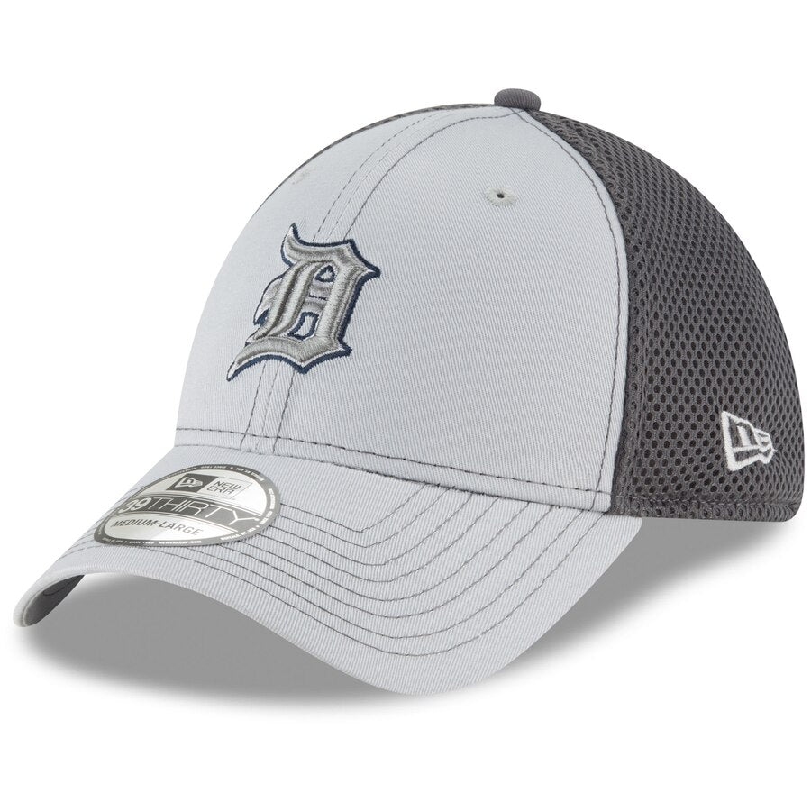 New Era Detroit Tigers Neo 39THIRTY Flex Hat / Gray - Pure Detroit