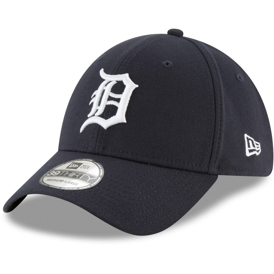 New Era Detroit Tigers Home Team Classic 39THIRTY Flex Hat / White + Navy - Pure Detroit