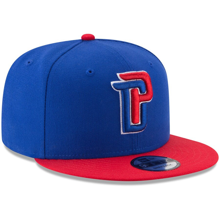 New Era Detroit Pistons Two Tone 9FIFTY NBA  Adjustable Snapback Hat / Red + Blue - Pure Detroit