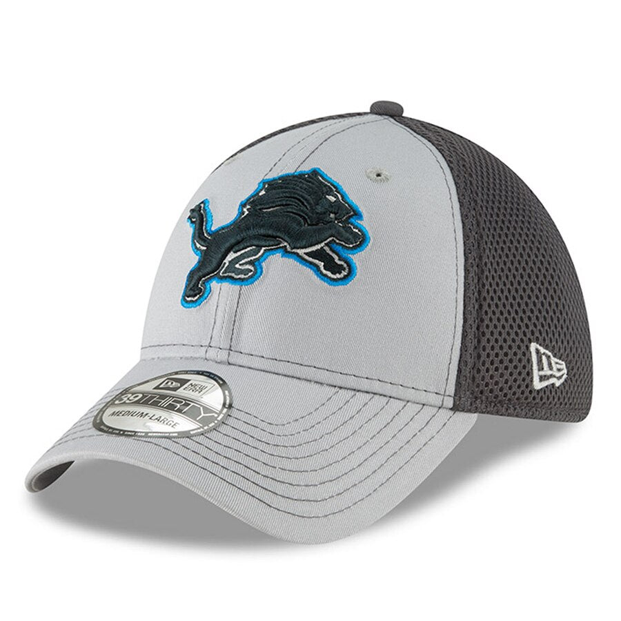New Era Detroit Lions Neo 39THIRTY Flex Hat / Gray - Pure Detroit