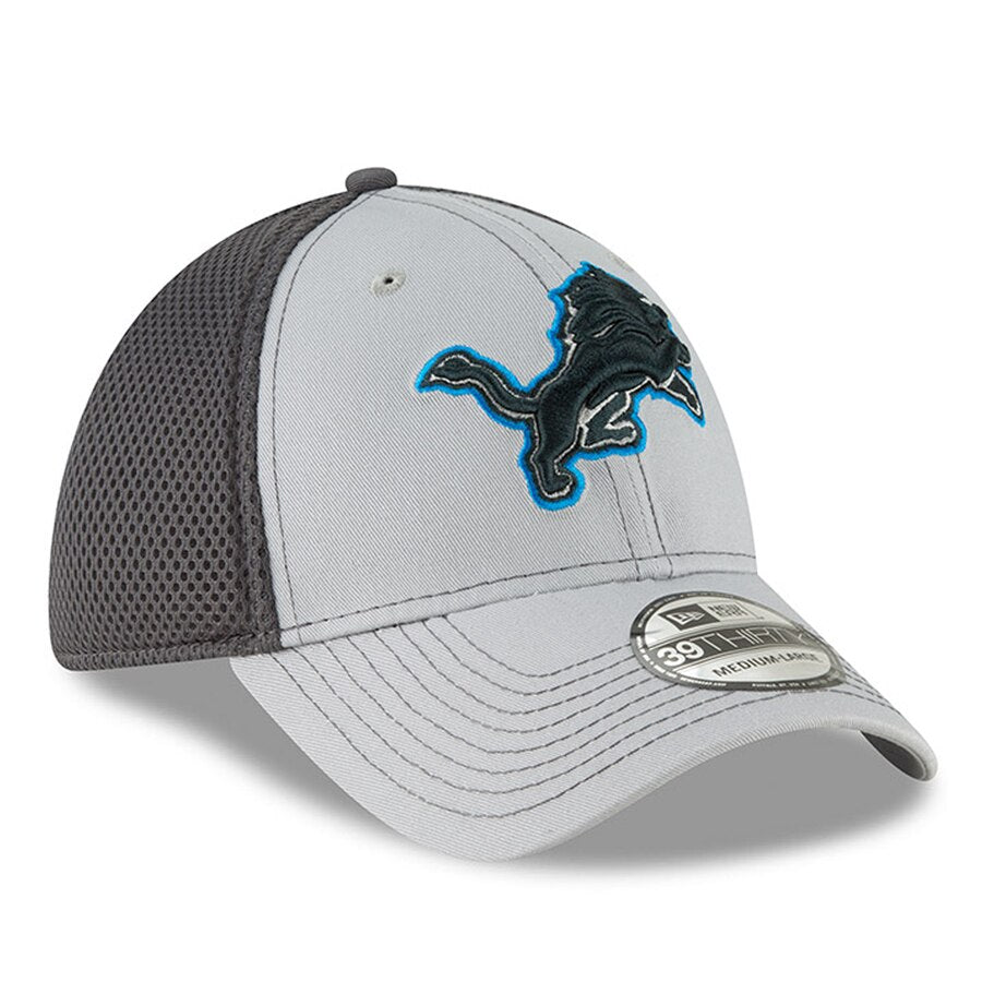 New Era Detroit Lions Neo 39THIRTY Flex Hat / Gray