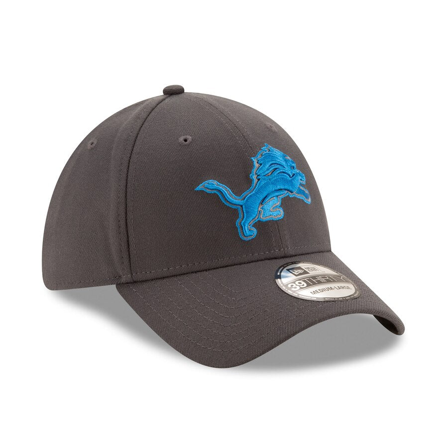 New Era Detroit Lions Graphite Storm 39THIRTY Flex Hat - Pure Detroit