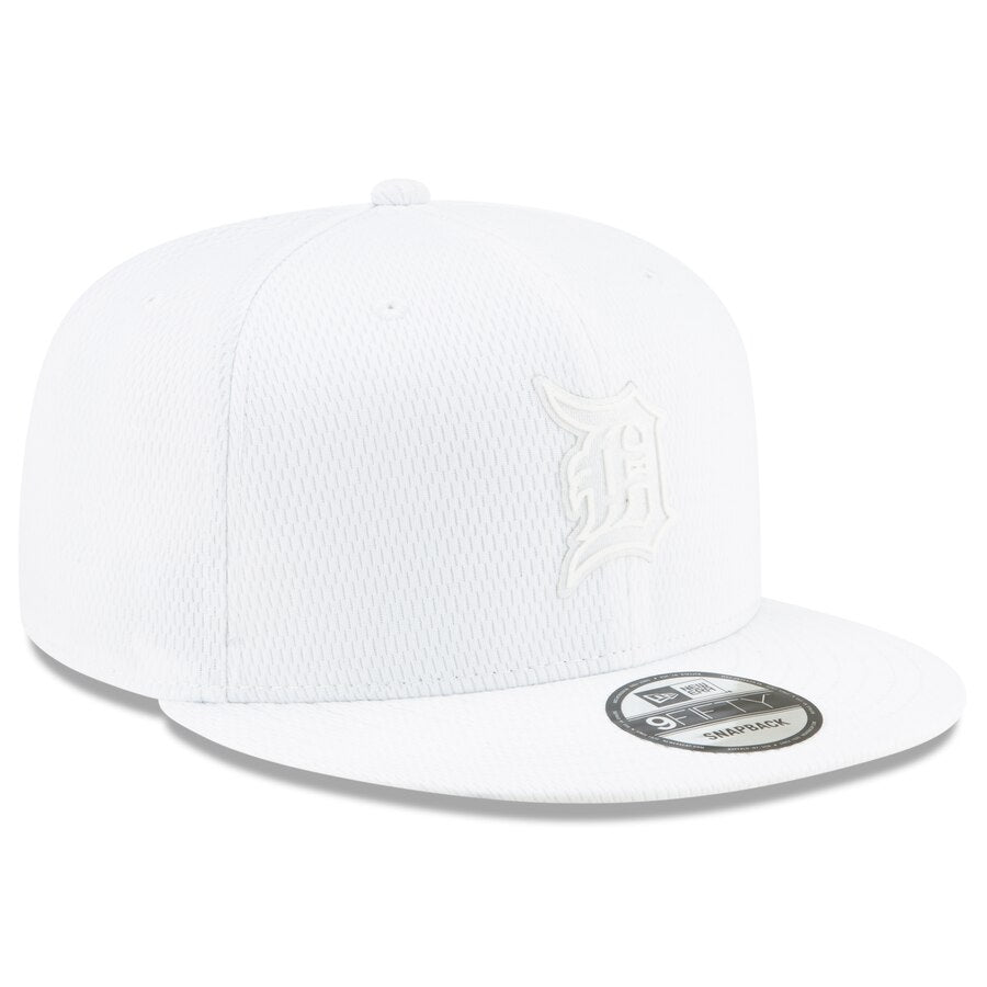 New Era Detroit Tigers 9FIFTY MLB Adjustable Snapback Hat / White - Pure Detroit