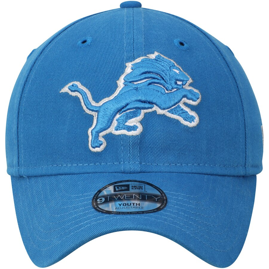 New Era Youth Detroit Lions Primary Core Classic 9Twenty Adjustable Hat / Blue - Pure Detroit