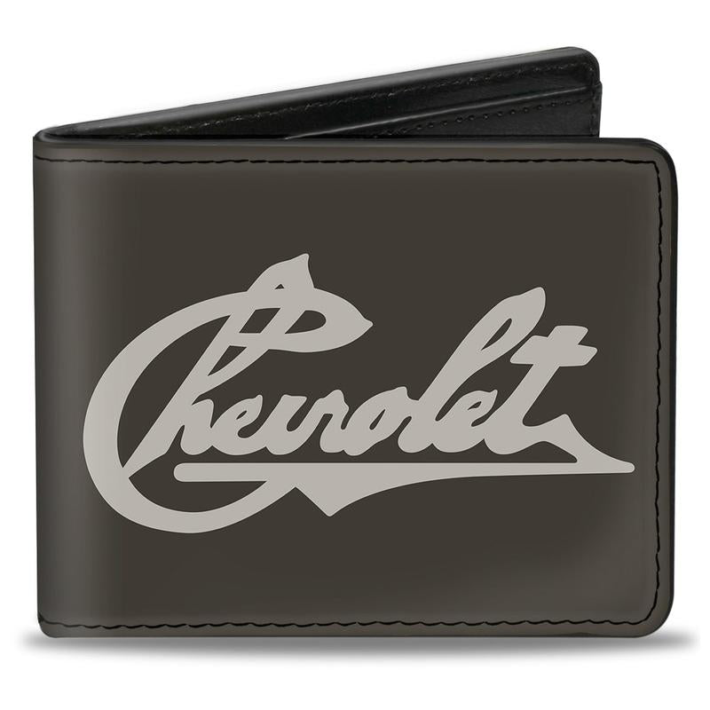 Chevrolet Heritage Script Vegan Leather Bi-fold Wallet - Pure Detroit