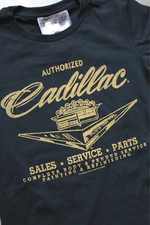 Cadillac Sales Service & Parts Tee / Black / Women's - Pure Detroit